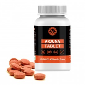 Arjuna Tablet – 1000mg Per Serving, 120 Tablet, 100% Pure and Natural – Dietary Supplement