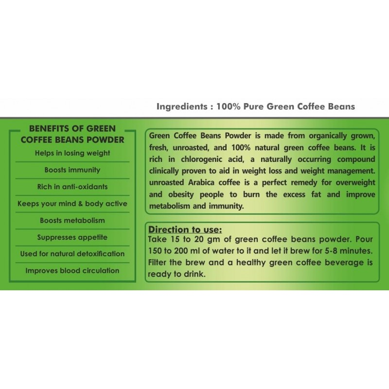 Green Coffee Beans Powder Holy Natural