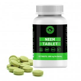 Neem Tablet – 1000mg Per Serving, 120 Tablet, 100% Pure and Natural – Dietary Supplement