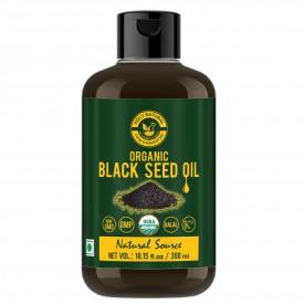 Organic Black Seed/Nigella Sativa/Kalonji Seeds Oil (300 ML) USDA Certified, Virgin Cold-Pressed, 100% Pure & Natural, No GMO, Untreated Black Seed Oil – Source of Thymoquinone & Omega 3,6 & 9