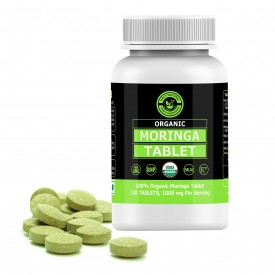 Organic Moringa Tablet – 1000mg Per Serving, 120 Tablet, USDA Certified, 100% Pure and Natural I Dietary Supplement I Source Of Vitamins, Minerals & Proteins