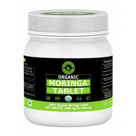 Organic Moringa Tablet – 1000mg Per Serving, 300 Tablet, USDA Certified, 100% Pure and Natural I Dietary Supplement I Source Of Vitamins, Minerals & Proteins