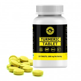 Turmeric Tablet – 1000 mg Per Serving, 120 Tablet, 100% Pure and Natural – Dietary Supplement